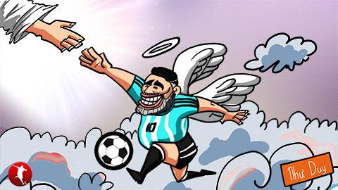 Maradona trở về với... bàn tay của Chúa
