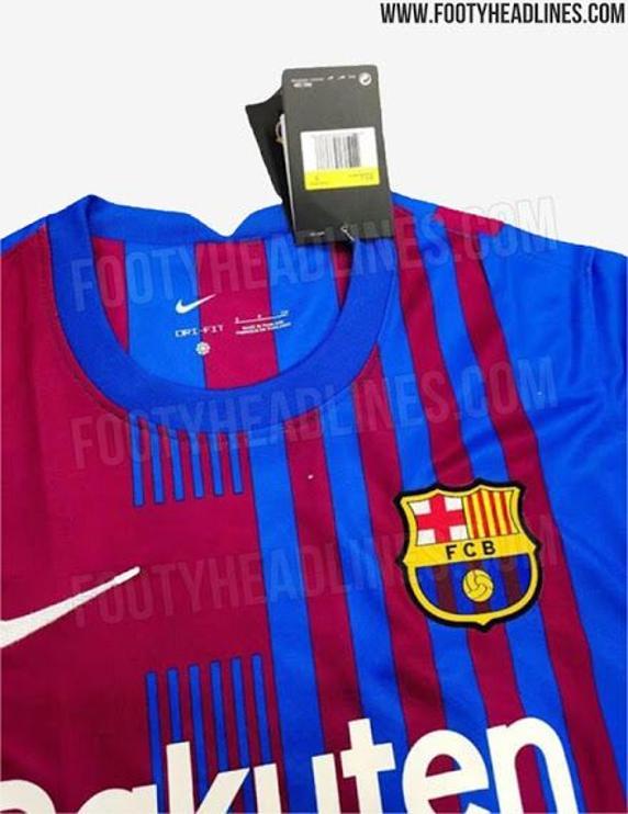 Mẫu áo sân nhà tin đồn của Barca