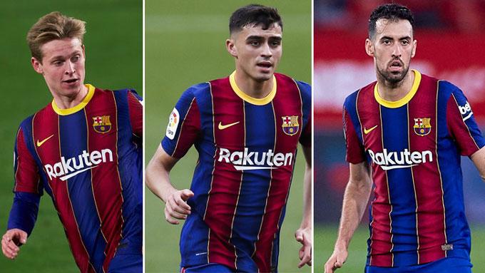 De Jong - Pedri - Busquets đang được kỳ vọng sẽ là bộ 3 nguyên tử mới nơi hàng tiền vệ Barca