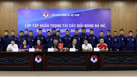 Lớp tập huấn trọng tài các giải bóng đá Nữ, bóng đá trẻ Quốc gia năm 2021 khai mạc