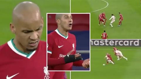 Thiago - Fabinho: Bộ đôi quái vật của Liverpool ở trận thắng Leipzig