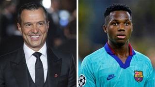 Mendes dùng Man City để gây sức ép cho Barca phải gia hạn với Fati