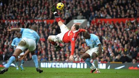 5 siêu phẩm của Rooney vào lưới Man City