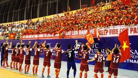 ĐT futsal Việt Nam trổ tài ở Trung Quốc