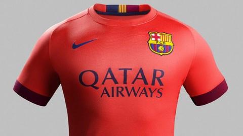 """""""Chói mắt"""" với áo đấu phụ của Barca"""