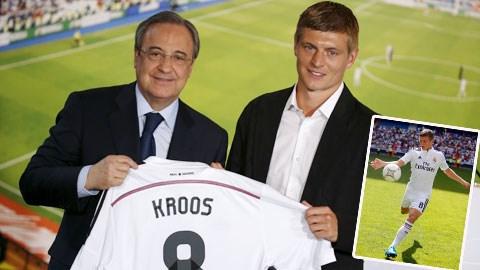 Chùm ảnh: Kroos ra mắt Real, nhận áo số 8