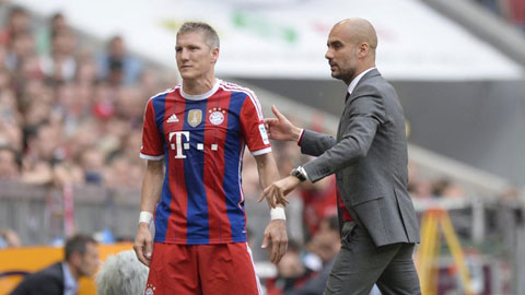 Guardiola không mặn mà giữ Schweinsteiger