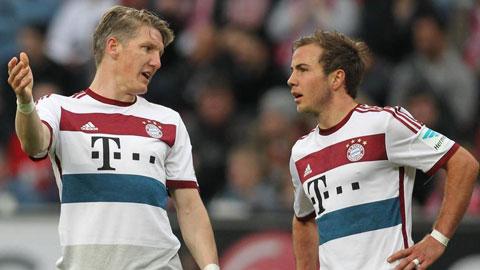 Bayern muốn giữ Schweinsteiger, nhưng có thể bán Goetze
