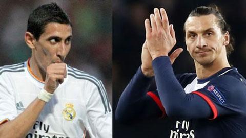 Ibrahimovic chào mừng Di Maria tới PSG