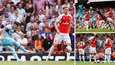 Arsenal thua sốc ngày khai mạc Ngoại hạng Anh