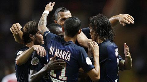 PSG đại thắng Monaco trong ngày ra mắt Di Maria