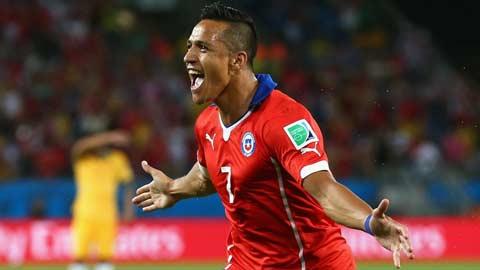 Alexis Sanchez thăng hoa từ CLB lên tuyển
