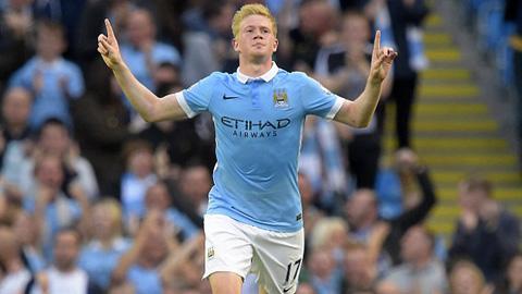 """De Bruyne nhận giải """"Cầu thủ Man City xuất sắc nhất tháng 9"""""""