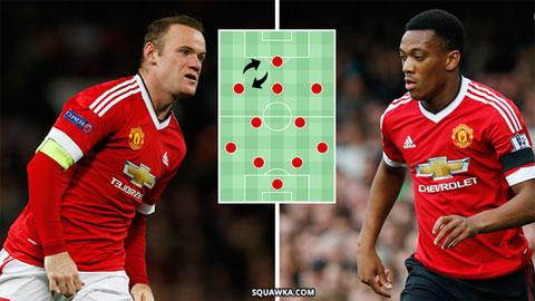 M.U: Martial xứng đáng đá trung phong hơn Rooney