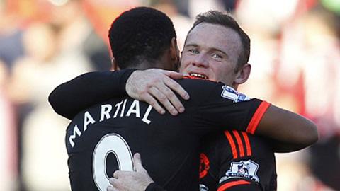 M.U mất cả Rooney lẫn Martial ở trận gặp Watford
