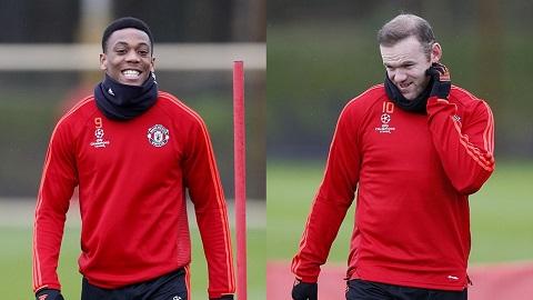 M.U đón Martial và Rooney quay trở lại tập luyện
