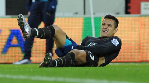 Bão chấn thương tiếp tục tàn phá Arsenal