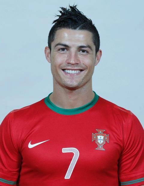 Mái tóc của Ronaldo ở VCK EURO 2012