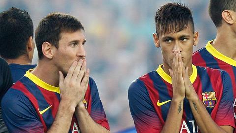 Tài chính bi đát, Barca tính chuyện bán Messi hoặc Neymar