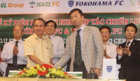 HA.GL ký kết hợp tác chiến lược với CLB Yokohama