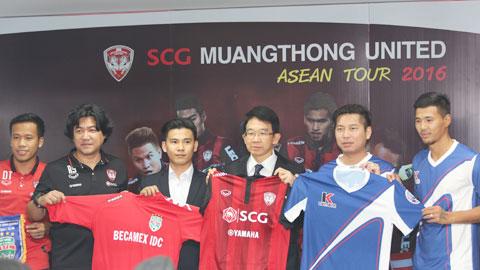 B.BD đấu với Muangthong tại ASEAN Tour 2016