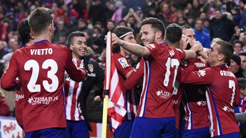 Đả bại Levante, Atletico trở lại ngôi đầu La Liga sau 19 tháng
