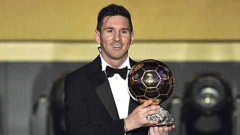 Lionel Messi lần thứ 5 giành Quả bóng Vàng