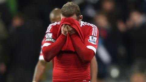 M.U bị cầm hòa trong ngày Rooney lập cú đúp