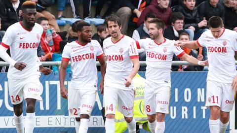 Đánh bại Lorient 2-0, Monaco lên thứ 2 BXH