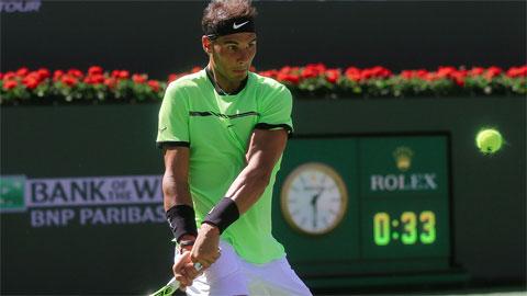 Nadal thắng nhàn, Djokovic nhọc nhằn đi tiếp ở Indian Wells