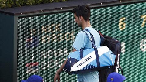 Djokovic bại trận trước Kyrgios lần thứ 2 trong vòng 2 tuần