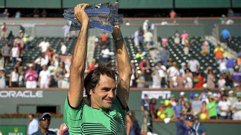 Federer vô địch Indian Wells lần thứ 5
