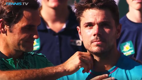 Djokovic thổi kèn, Federer vặt râu Wawrinka