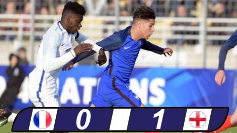 U20 Pháp bất lực trước thủ thành thuộc biên chế M.U của U20 Anh