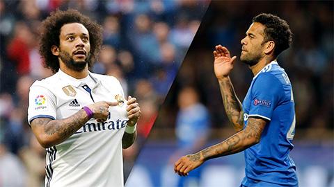 Marcelo và Dani Alves: 2 siêu hậu vệ đi lên từ futsal