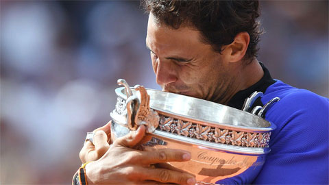 Chùm ảnh Nadal đăng quang vô địch Roland Garros lần thứ 10