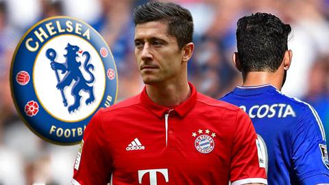 Chelsea muốn chiêu mộ Lewandowski thay Costa