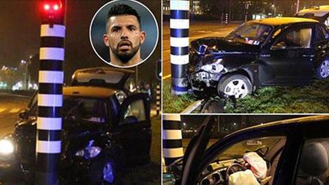Taxi gặp tai nạn, Aguero gãy xương sườn
