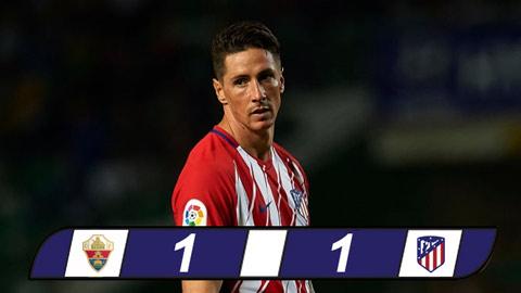 Vòng 1/16 cúp Nhà vua: Phung phí cơ hội, Atletico bị Elche cầm chân