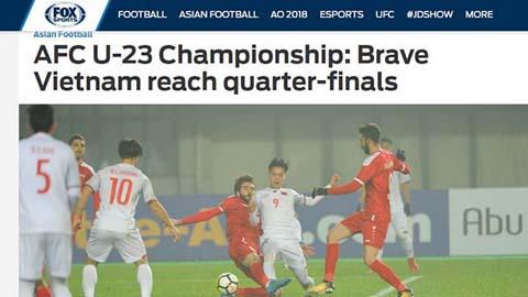 Báo chí quốc tế dành mỹ từ cho U23 Việt Nam
