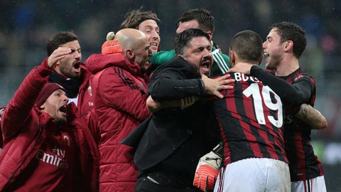 Milan-Gattuso trở lại quả cảm