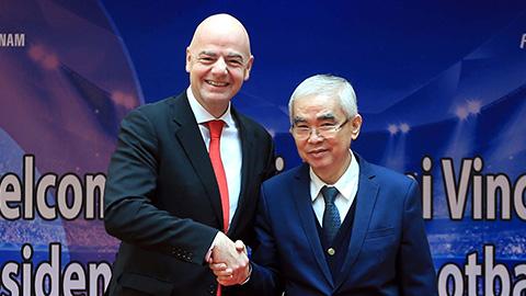 Chủ tịch FIFA Infantino: Việt Nam có thể dự World Cup trong tương lai gần