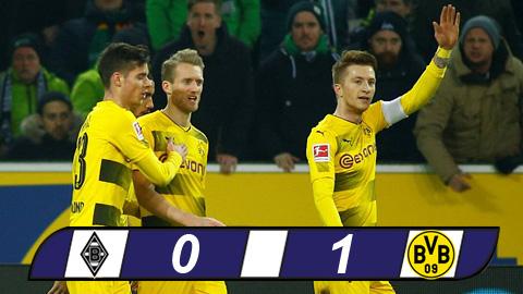 M''Gladbach 0-1 Dortmund: Reus nổ súng sau 9 tháng