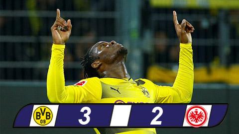 Dortmund 3-2 Frankfurt: Cú đúp của Batshuayi đưa Dortmund lên thứ 3