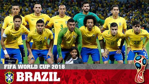 Chân dung ĐT Brazil ở World Cup 2018