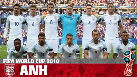 Chân dung ĐT Anh ở World Cup 2018