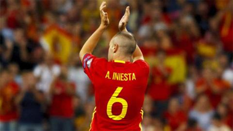 Iniesta chỉ còn tối đa 10 trận khoác áo ĐT Tây Ban Nha