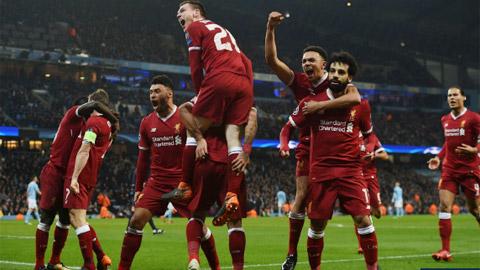 Liverpool phá kỷ lục ghi bàn của M.U ở Champions League
