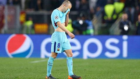 Barca thảm bại & ánh mắt đầy ám ảnh của Iniesta