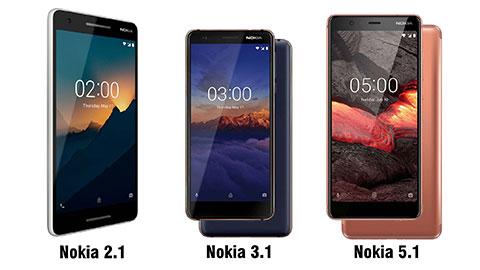 Nokia trình làng bộ 3 smartphone giá rẻ mới, chạy Android gốc